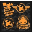 Set of modern Bodybuilding and fitness room logos vector image vector image