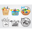 Shopping food vector image vector image