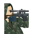 Sniper and sniper scope vector | Price: 3 Credits (USD $3)