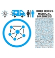 Social Graph Rounded Icon With Medical Bonus vector image vector image