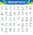 sport icons color set vector image vector image