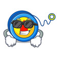 super cool yoyo character cartoon style vector image