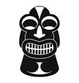 tiki idol hawaii icon simple style vector image vector image