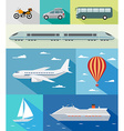 Transportation flat icons vector image