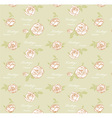 Vintage roses seamless pattern vector image vector image