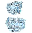 Water tag cloud vector image
