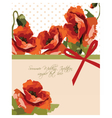 Watercolor poppy flowers vector image