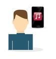 wearable technology design social media icon vector image vector image