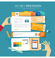 web designui ux wireframe concept flat design vector image vector image