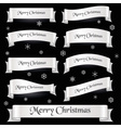 white merry christmas curved ribbon banners eps10 vector image vector image