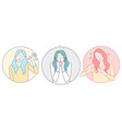 woman different emotions concept vector image