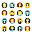 women flat icons vector image vector image