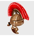 Bronze helmet the item of knight armour vector image