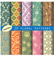 floral seamless pattern unit collection 1 vector image