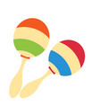 rumba shakers maracas rattle icon childrens toy vector image
