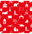 Russia country theme symbols icons seamless vector image