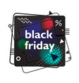 square poster in memphis style black friday sale vector image