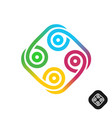 abstract tribal style colorful logo vector image