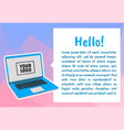 infographic template with laptop computer vector image