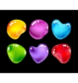 Glossy jewel stones for game design vector image