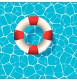 Lifebuoy on the water surface vector image