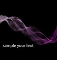 abstract dark purple waves line violet wave lilac vector image vector image