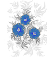 Abstract floral branch with background vector image vector image