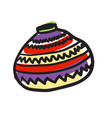 african ceramic jug hand drawn icon vector image