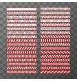 Big set of different seamless red and white vector image vector image