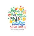 bora bora island logo template original design vector image vector image