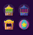 carnival celebration set icons vector image