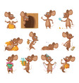 cartoon mouse funny little animals lab vector image