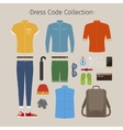 Casual clothing set vector image vector image