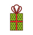 christmas gift box celebration decoration vector image