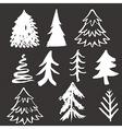 Christmas tree hand drawn vector image