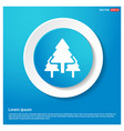 christmas tree icon abstract blue web sticker vector image vector image