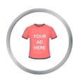 Clothing advertisement icon in cartoon style vector image