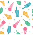 colorful ice cream seamless pattern vector image vector image