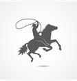 cowboy flat icon vector image vector image