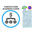 cows result dollar rounded icon with set vector image vector image