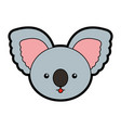 cute koala face cartoon vector image vector image