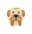 cute schnauzer dog head funny cartoon animal vector image
