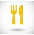 Cutlery single icon vector image