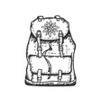 edelweiss flower icon backpack alpine icon vector image vector image