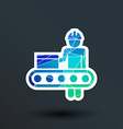 Engineering workshop Industrial operation icon vector image