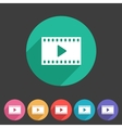 Film video cinema photo icon flat web sign symbol vector image vector image