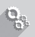 Flat cogwheels vector image vector image