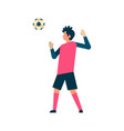 football player goalkeeper hitting ball isolated vector image vector image