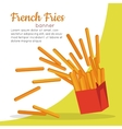 French Fries Crispy Potatoes vector image vector image