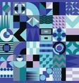 Geometric mosaic seamless pattern